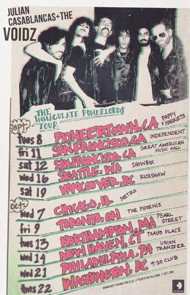 Julian Casablancas + The Voidz fall 2015 promotional poster