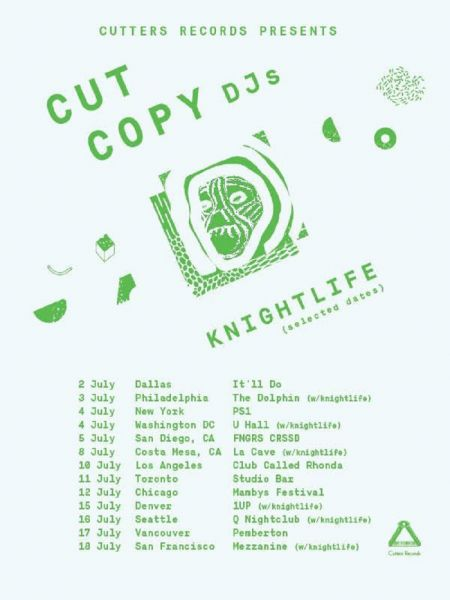 Cut Copy - Summer 2015 promotional tour art