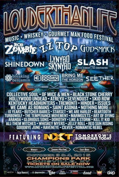 Louder Than Life 2015 promotional poster