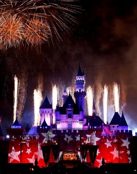 In 2015, Disneyland Resort celebrates the Fourth of July by adding special touches onto the nighttime entertainment that has debuted for its