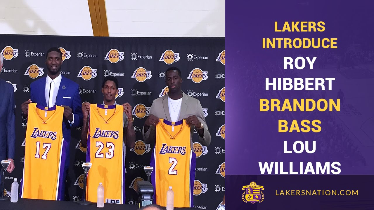 pretty nice 230ca 72255 Los Angeles Lakers introduce Roy Hibbert, Lou Williams and ...