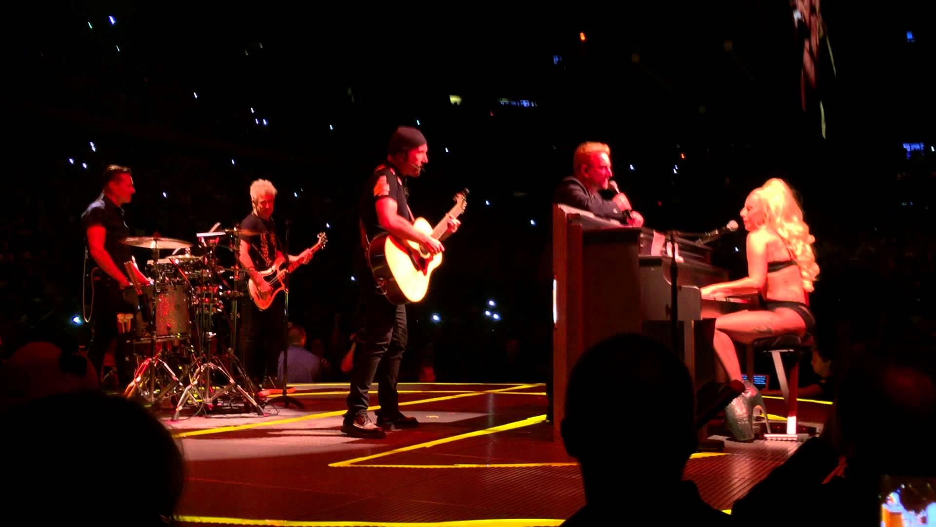 u2 invites lady gaga on madison square garden stage to perform ordinary - U2 At Madison Square Garden