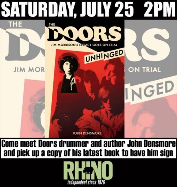 The Doors\u0027 John Densmore \u0027Absolutely Live\u0027 at Rhino Records