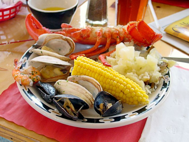 Seafood Includes Clams Mussels And Lobster