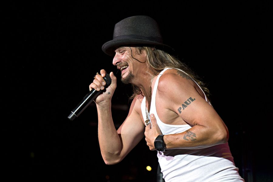 Kid Rock performs in Cleveland, Ohio at Blossom Music Center