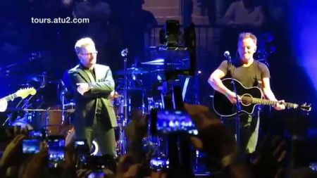 Watch: U2 joined by Bruce Springsteen for encore at final New York show