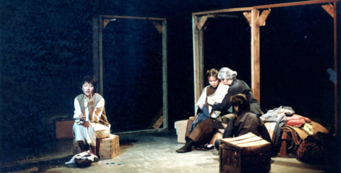 """Part of the excellent cast of """"Paper Angels,"""" appearing now at Dukesbay Theater in Tacoma"""