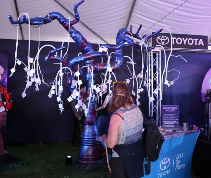 Toyota and VH1 Save the Music team up at Life Is Beautiful.