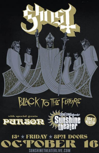 Ghost and Purson perform at Albuquerque's Sunshine Theater on Oct. 16.