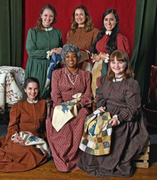Entertaining Christmas Cast.Actors Summit S Quilters Brings History To Life In An