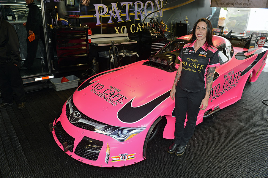 Alexis Dejoria To Run Pink Funny Car During Nhra Toyota Nationals In