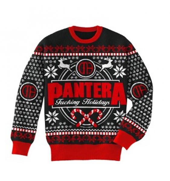 anthraxs happy hanukkah crewneck sweatshirt - Black Metal Christmas Sweater