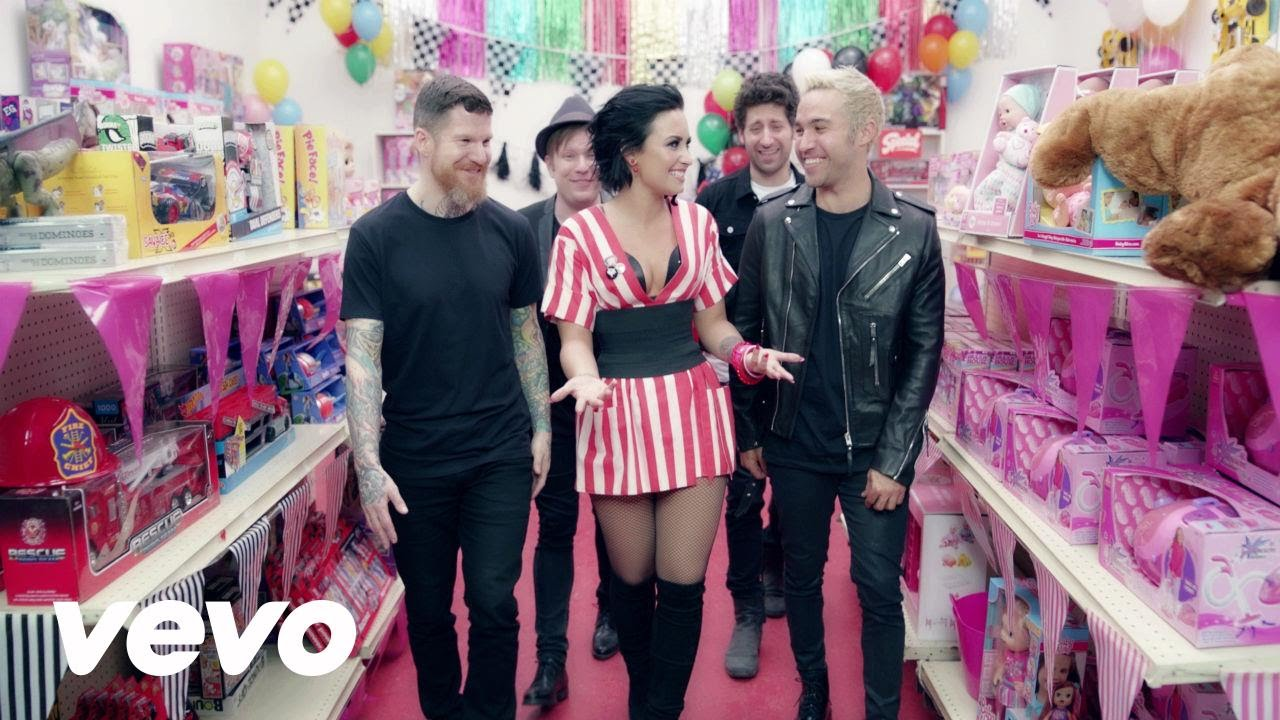 Fall Out Boy turn into dolls in 'Irresistible' music video featuring Demi Lovato