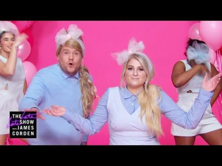 Meghan Trainor and James Corden slam New Year's resolutions in hilarious duet