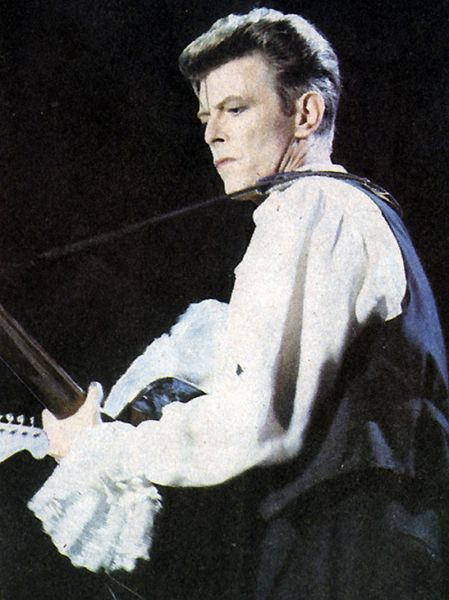 David Bowie performing in Chile in 1990