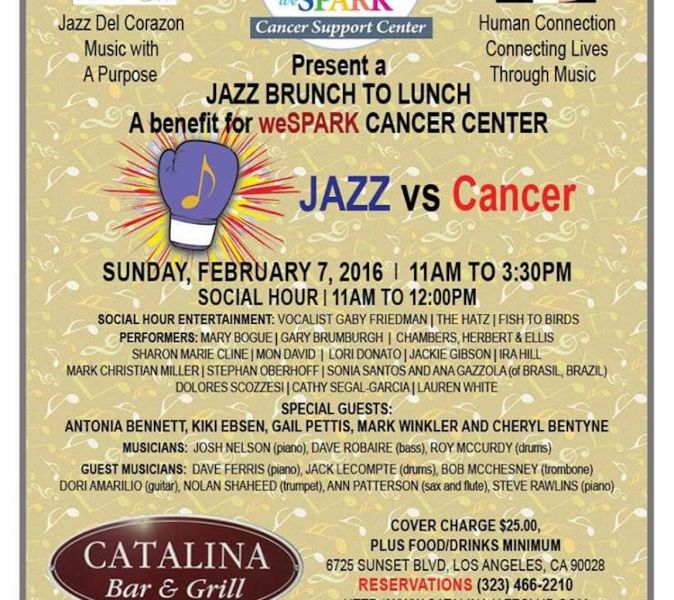 Jazz, duh... in this spectacular brunch benefit for weSPARK Cancer Center. The stars line up to do battle.