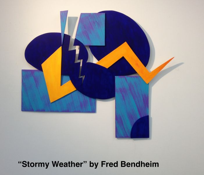 Fred Bendheim creates lovely abstract works consisting of unique shapes and colors.