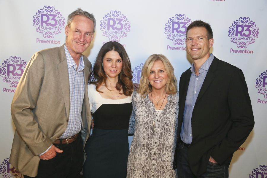 Bruce Kelley, Naomi Whittel, Lori Burgess and Dr. Travis Stork (left to right) at Prevention Magazine's 3rd annual R3 Summit held at AC