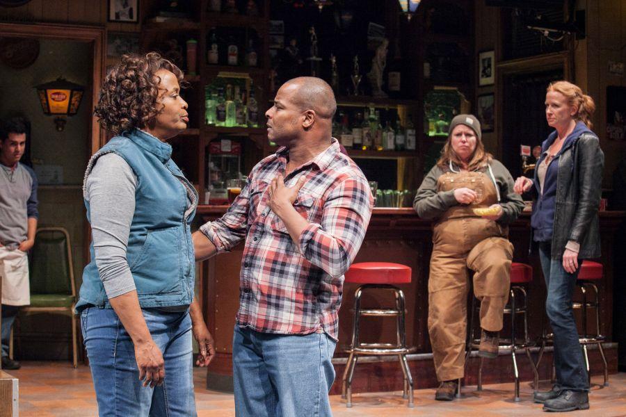 (L-R) Reza Salazar as Oscar, Kimberly Scott as Cynthia, Kevin Kenerly as Brucie, Tara Mallen as Jessie and Johanna Day as Tracey