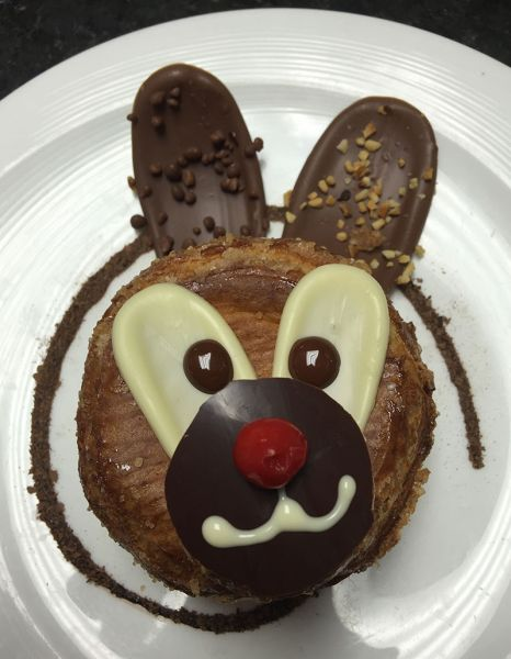 Easter brunch at Washington, D.C.'s Et Voila! will include Arthur the Rabbit, pate a choux with chocolate Chantilly, hazelnut cream and
