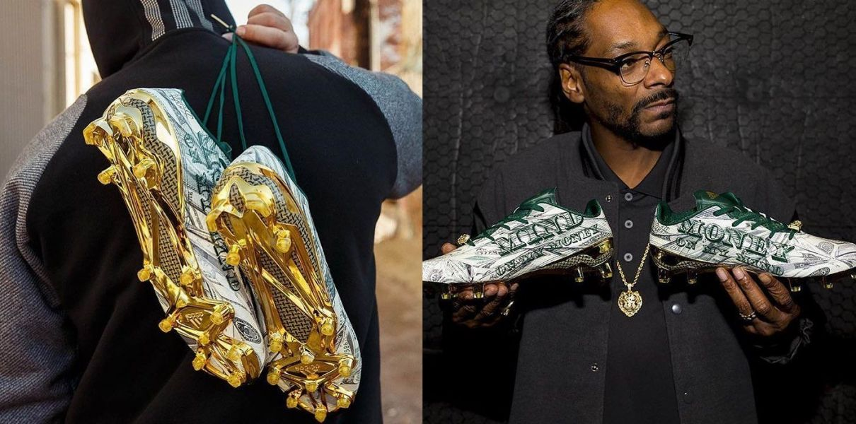 266d6429f5a Snoop Dogg designs money-Inspired football cleats for Adidas - AXS