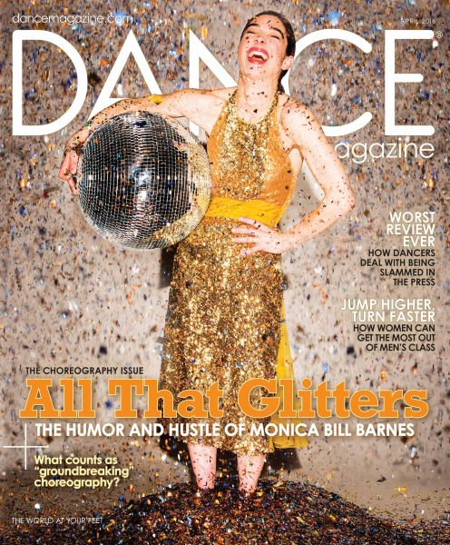 """Monica Bill Barnes is featured on the April 2016 cover of """"Dance Magazine""""."""