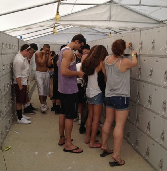 Store your necessities while at Rocklahoma in a rented locker.