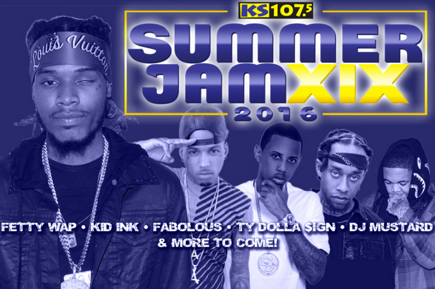 The 19th Annual KS107.5 Summer Jam announced first wave of artists including Fetty Wap, Kid Ink, Fabolous and more
