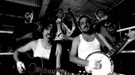 Left Coast band The Brothers Comatose at MerleFest