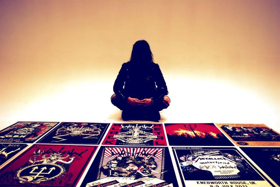 Watain posters designed by Graphic Noise.