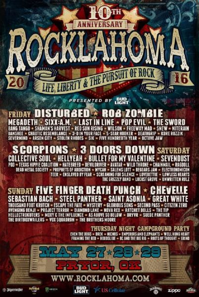 Rocklahoma 2016 Promotional Poster