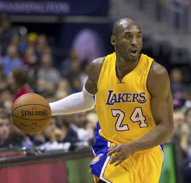 7e10c4cd1d8a Lakers great Kobe Bryant mid-action during a 2014 game against the Wizards