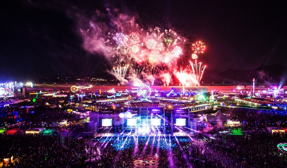 Overlooking the magnificant EDC festival