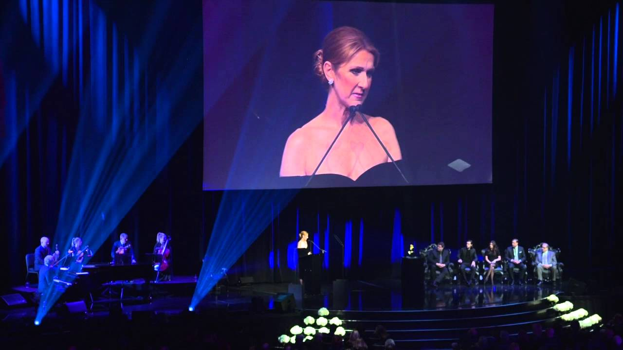 Watch: Celine Dion remembers Rene Angelil with emotional speech