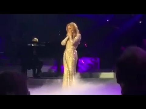 Watch: Celine Dion sing tearful rendition of 'All By Myself' at Las Vegas return