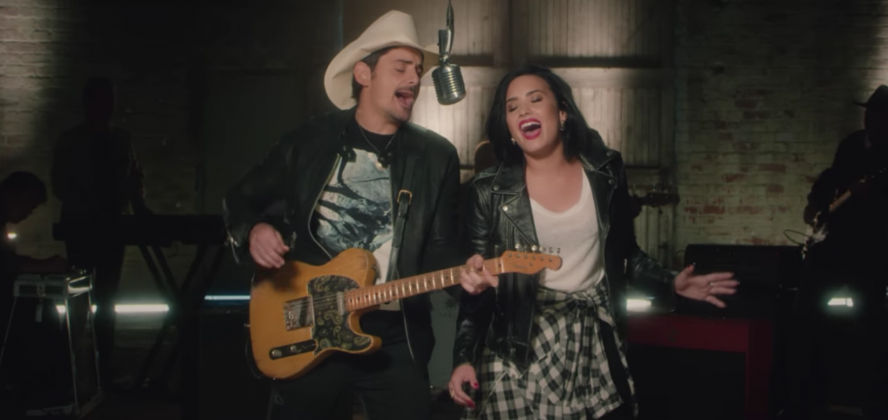 ed7d543d6f70d Brad Paisley and Demi Lovato team up in their