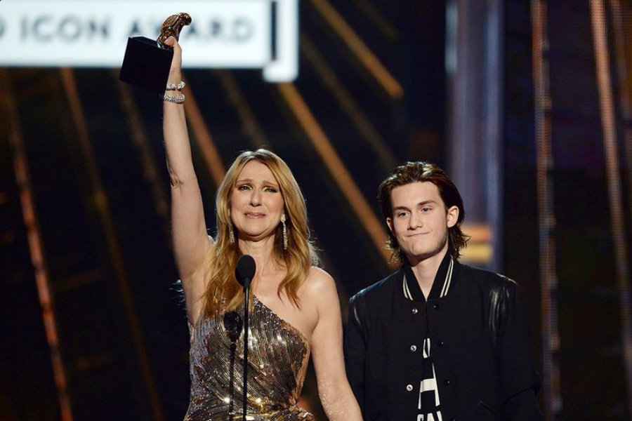Celine Dion with her son René-Charles