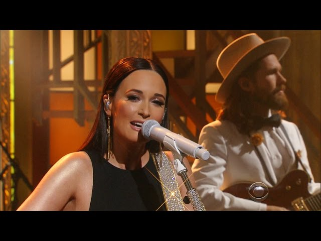 Kacey Musgraves is 'Late to the Party' on 'The Late Show with Stephen Colbert'