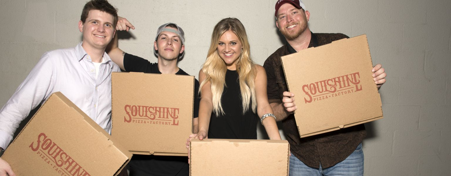 Pictured L-R: Black River Entertainment's Forest Glen Whitehead, Josh Kerr, singer Kelsea Ballerini and Parallel Music Publishing's Lan