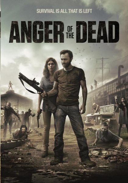 "DVD artwork for the zombie flick ""Anger of the Dead."""