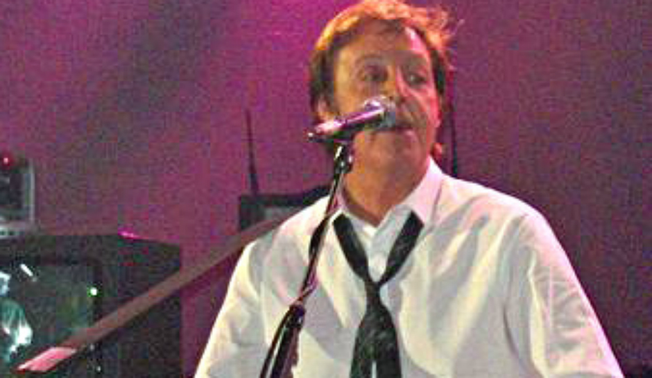 Sir Paul McCartney performs the Beatles classic song 'Blackbird' at the BBC Electric Proms.
