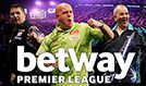 2017 Betway Premier League Darts tickets at The O2 in London