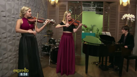 Classical duo, The Grey, perform their unique style of pop music on South African show,Espresso Show