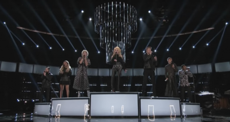 "Dolly Parton, Miley Cyrus and Pentatonix perform ""Jolene"" on ""The Voice."""