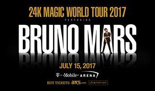Bruno Mars: 24K Magic Tour tickets at T-Mobile Arena in Las Vegas