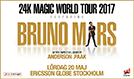 Bruno Mars tickets at ERICSSON GLOBE/Stockholm Live in Stockholm