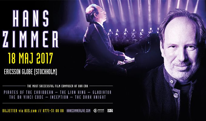 Hans Zimmer tickets at ERICSSON GLOBE/Stockholm Live in Stockholm
