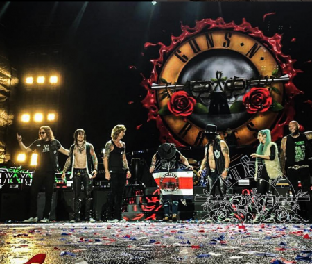 Guns N' Roses at their Costa Rica show.