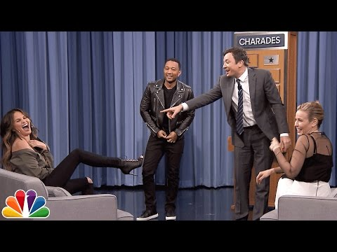 Laugh along as John Legend, Chrissy Teigen and Chelsea Handler play charades with Jimmy Fallon
