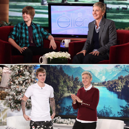 "Justin Bieber announced his stadium tour on an episode of ""Ellen."""